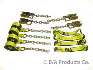 8-Point Tie Down Kit w/ Chain Ends