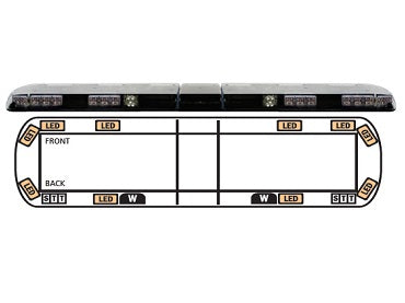 LIGHT BAR, ECCO 12 SERIES