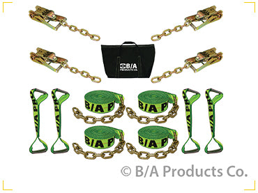 "8-Point Tie Down Kit W/ Chain 2"" Hi-Viz Webbing"
