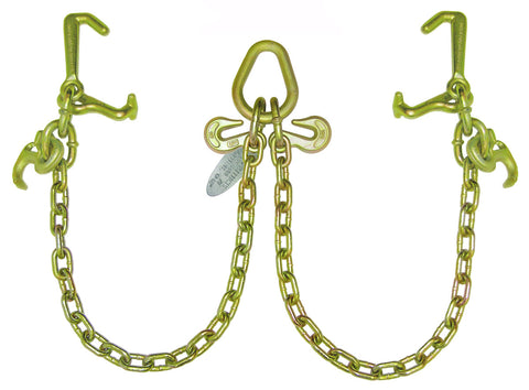 Image of Bridle, V-Chain w/Cluster Hooks, G70 Chain
