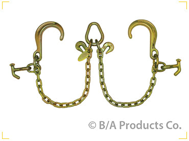 "Bridle, V-Chain w/ 8"" J-hook & Combo Hook, G70 Chain"