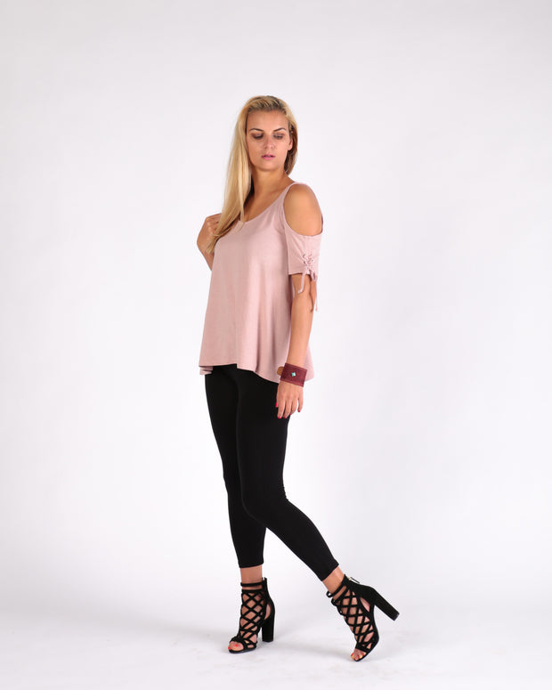 Bacall Lace-up Cold Shoulder