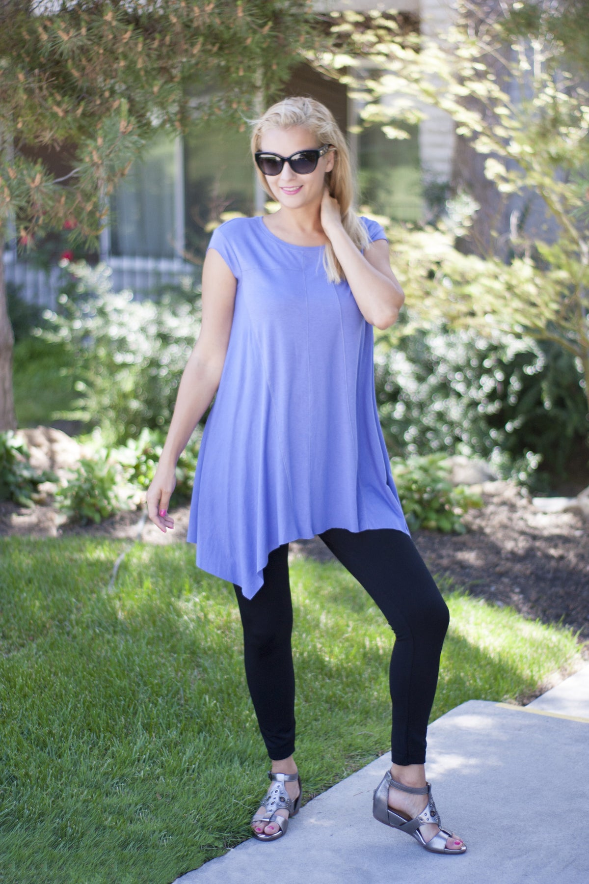 Liliac Stitched Tunic by Survival
