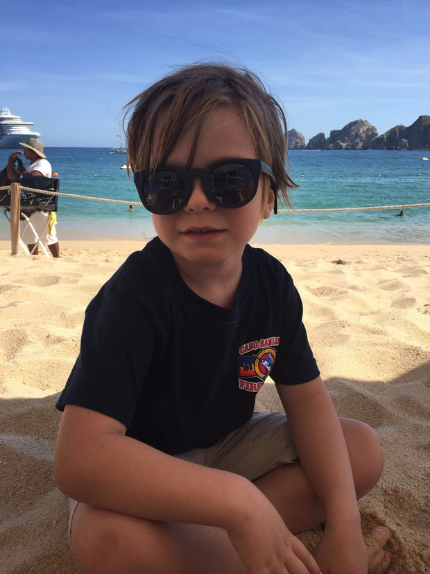 Bamboo kids sunglasses by Jennifer Reeves Designs