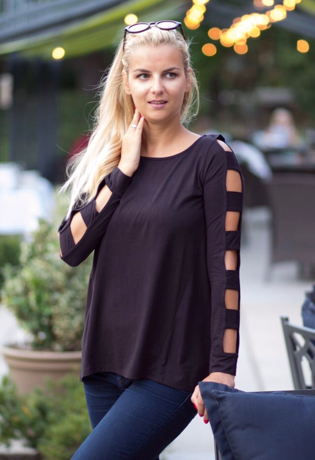 Cutout long sleeve top by Survival