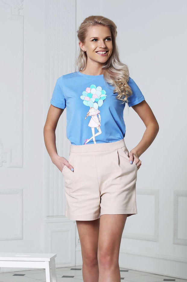 Balloons girl tee by Fashion.Love.Story
