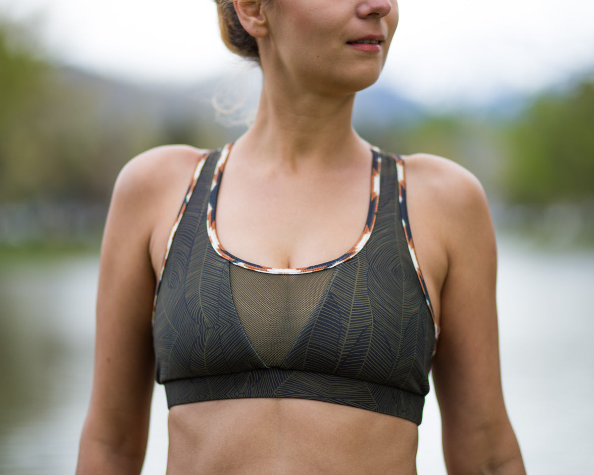 Charlie short yoga top by Uintah Collection