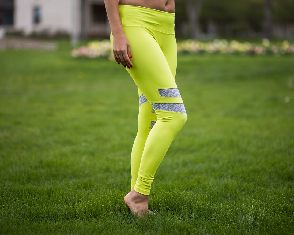Mazzy yellow yoga pant by Uintah Collection