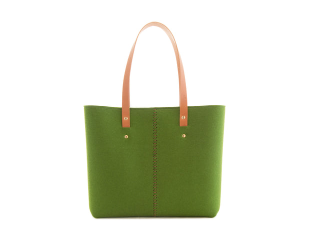 FRONT STITCHING TOTE BAG - Green