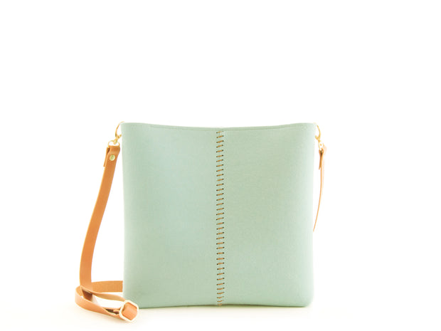 FRONT STITCHING SMALL CROSSBODY BAG - Turquoise