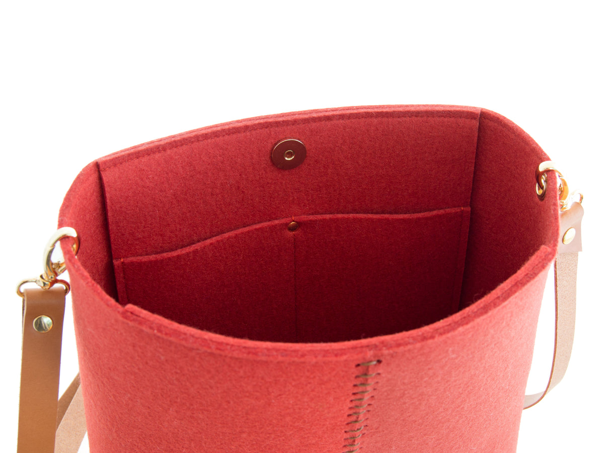 FRONT STITCHING SMALL CROSSBODY BAG - Terracotta