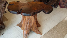 Walnut Burl Side Table