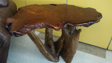 Redwood Live Edge Burl side Table