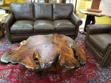 Redwood Burl Live Edge Coffee Table
