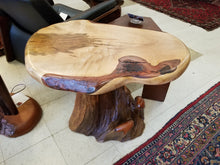 Maple live edge side table