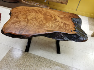 Redwood live edge coffee table