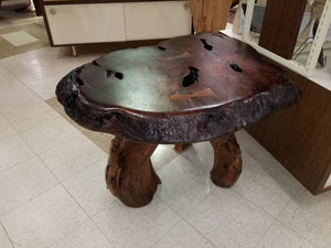 Redwood Live Edge Side Table