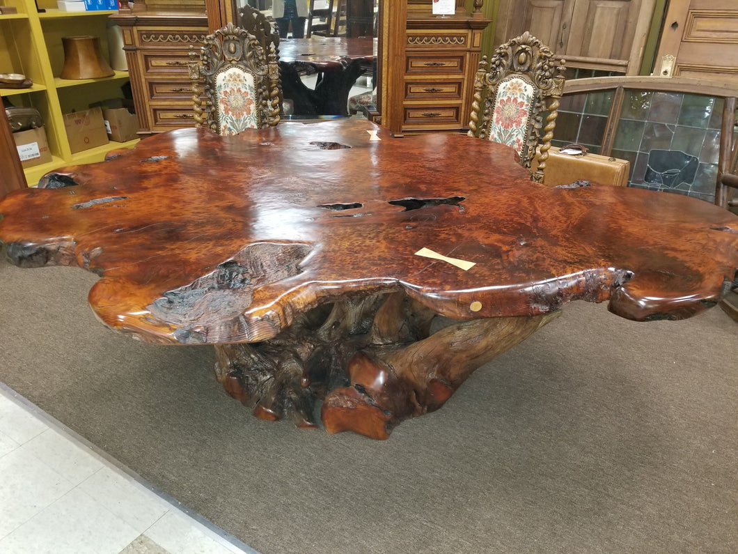 Excellent Redwood Burl Dining Table Moose Crossing Burl Gallery Beutiful Home Inspiration Cosmmahrainfo