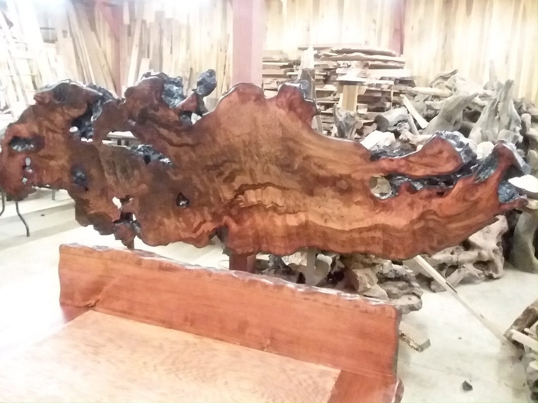 Redwood Live Edge Bed