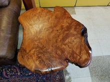 live edge redwood burl table