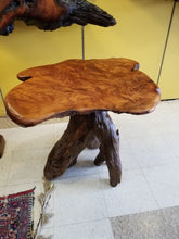 Redwood burl Lamp Table live edge
