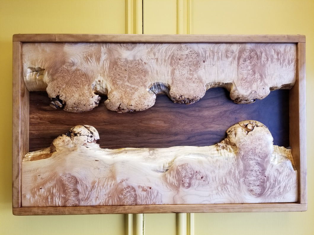 Maple and Walnut Wall Art