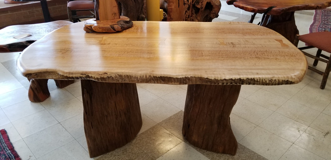 Quilted Maple Dining Table or partner's desk
