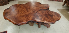Birdseye Burl Live Edge Coffee Table