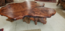 Redwood Live Edge Burl Coffee Table