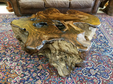 Redwood solid Slab Floor Model Coffee Table