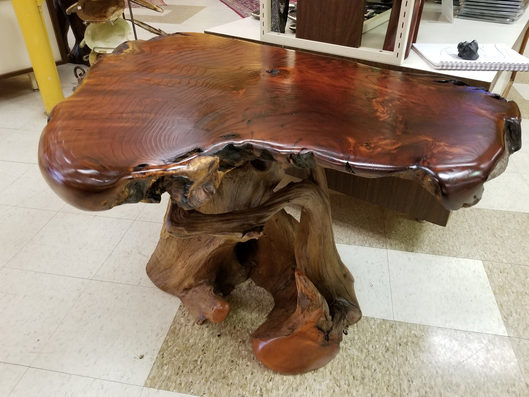 Figured Redwood Side table