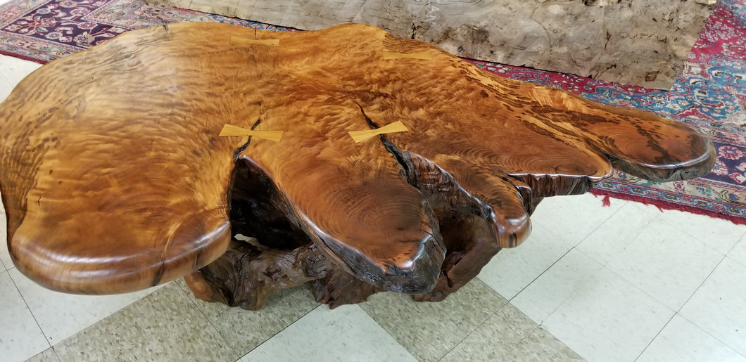 Curly Redwood Coffee Table