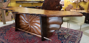 Carved Redwood Bar