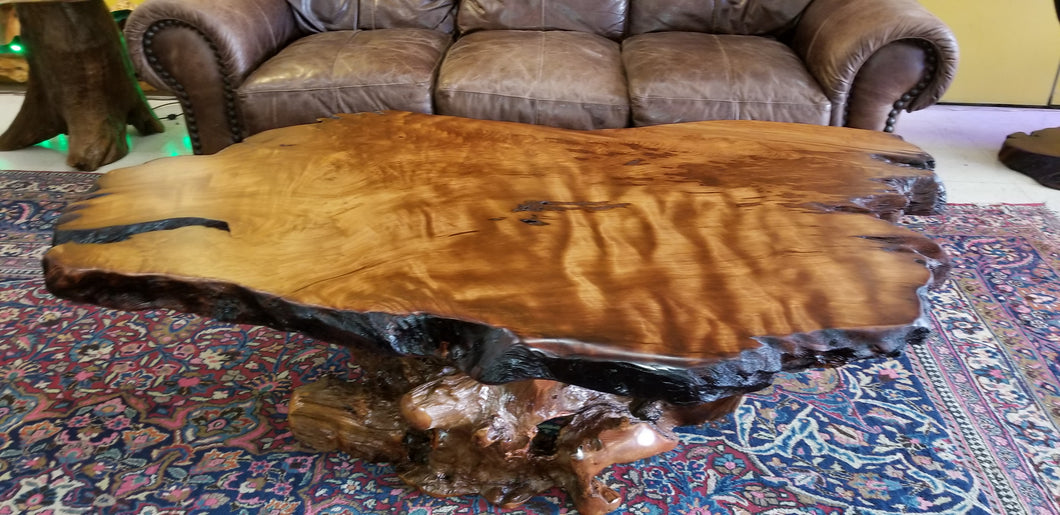 Redwood Ribbon figured coffee table