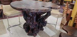 Walnut Burl Bar Table