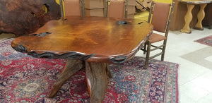 Redwood Burl Dining Table