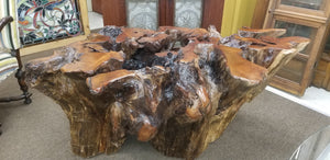 Redwood Root Base Dining table or Entry Table