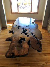 Stunning Redwood Dining Table Live Edge Burl