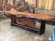 12 Live Edge Old Growth Bar Top With Copper Accents Bars & Islands