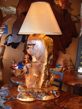 Maple Burl Table Lamp