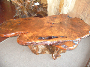 Redwood Old Growth Birdseye Burl Coffee Table