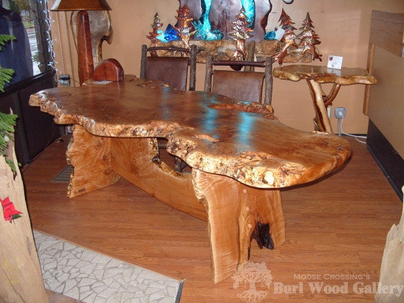 Maple Burl Desk