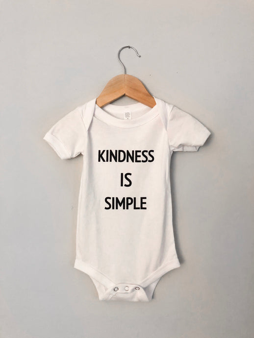 Kindness Is Simple Onesie