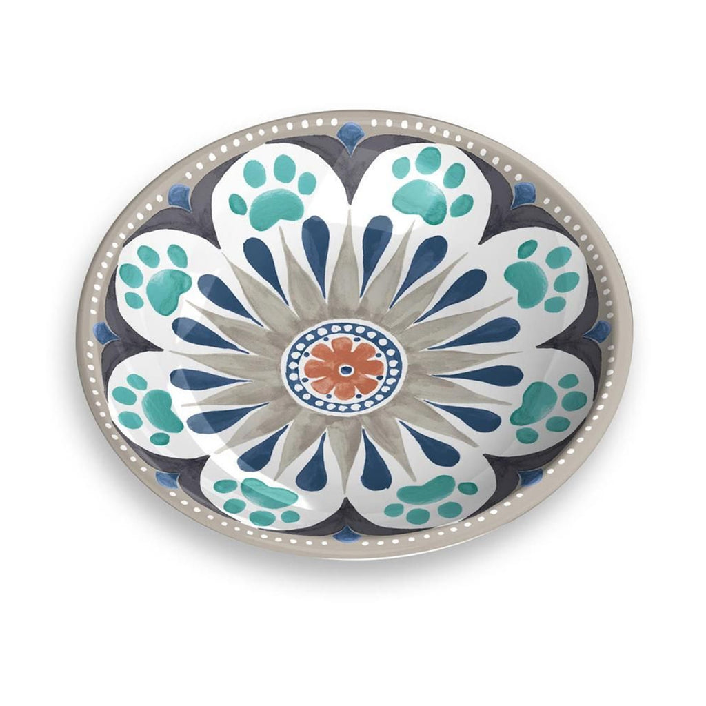 Carmel Medallion Grey Pet Saucer