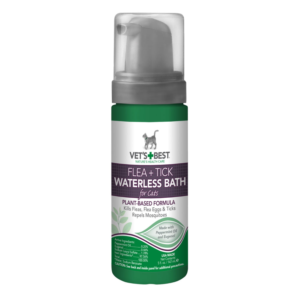 Vet's Best Cat Flea & Tick Waterless Bath Foam