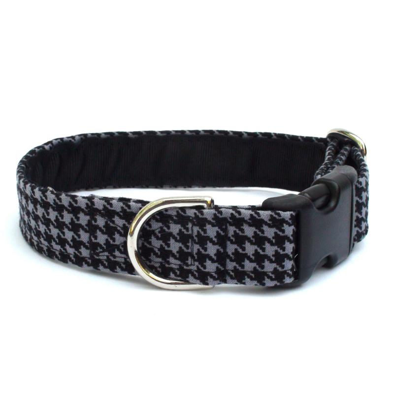 Black & Gray Houndstooth Collar