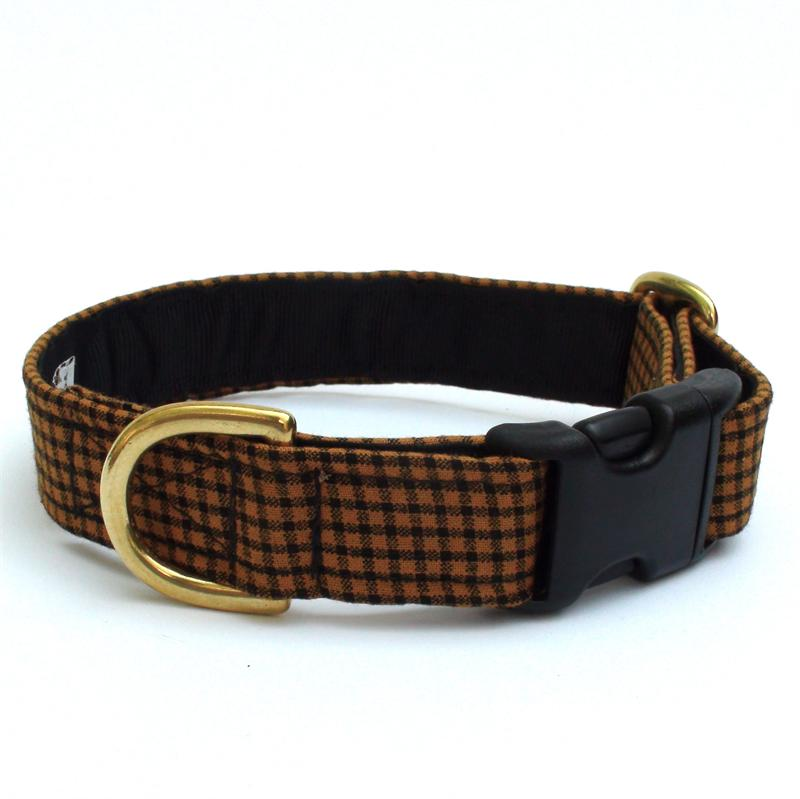 Goldenrod Check Collar