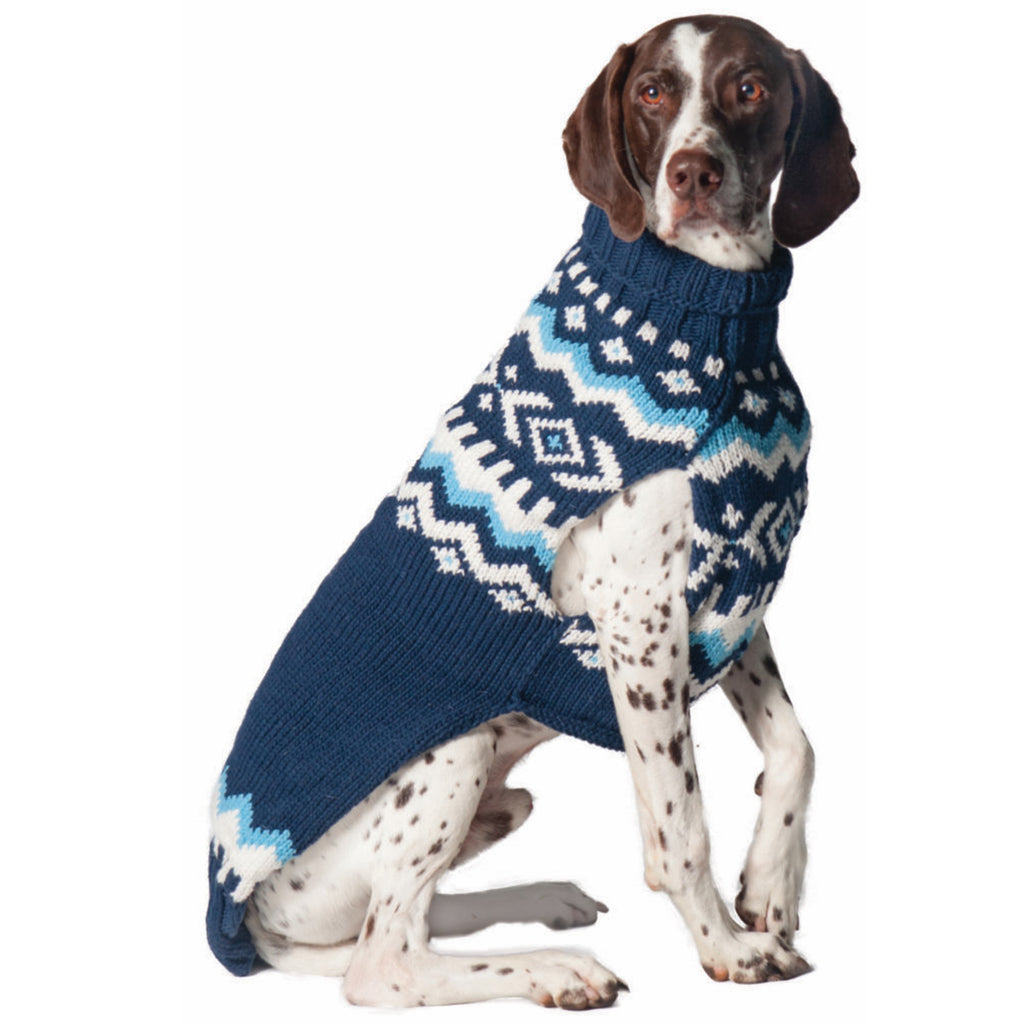 Navy Nordic Dog Sweater
