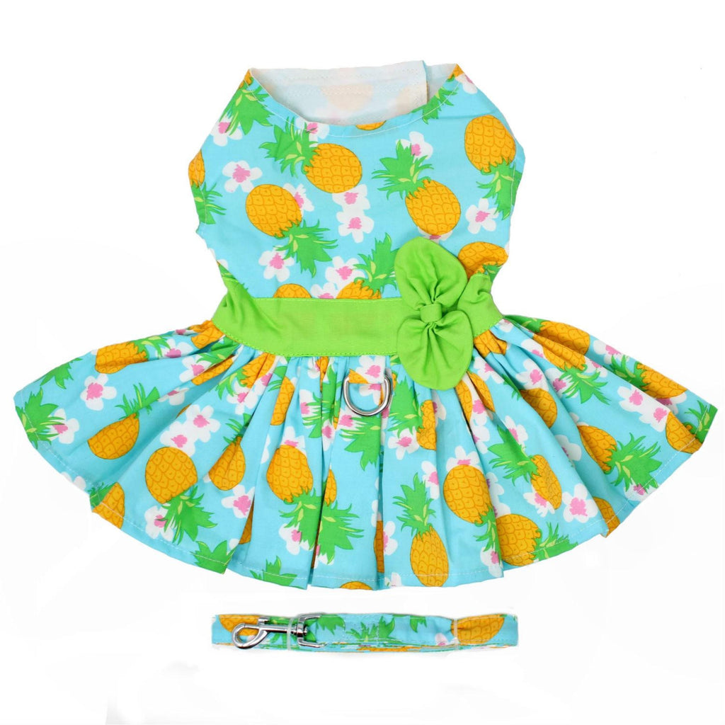 Pineapple Luau Harness Dress & Leash