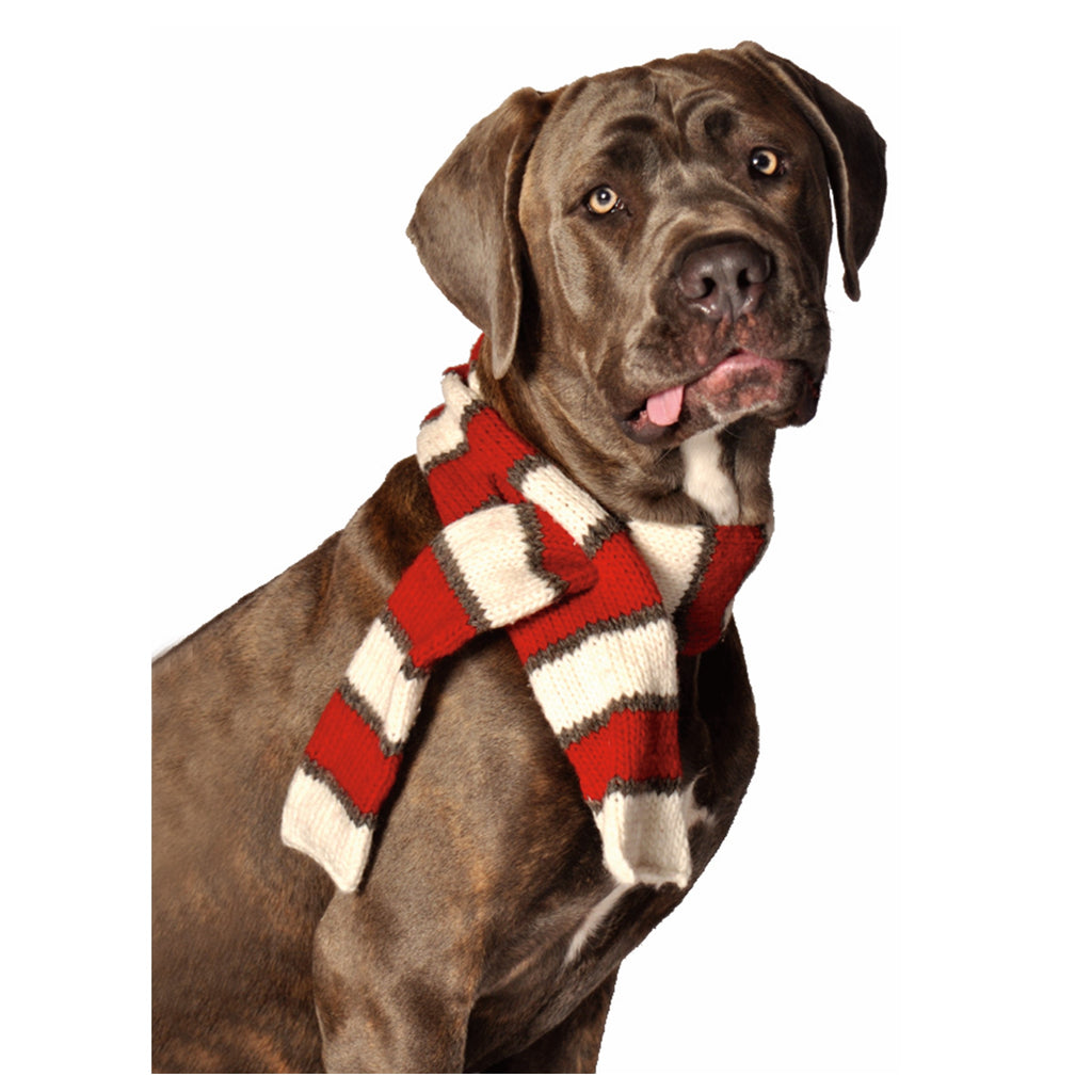 Red White Dog Scarf